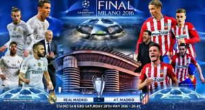 Prediksi Final Liga Champions, Real Madrid vs Atletico Madrid 29 Mei 2016